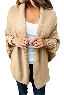 casual long dolman sleeve draped