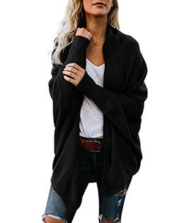 casual oversized cardigans cotton knit