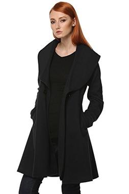 Halife Women's Casual Single Button Slim Fit Trench Coats fo