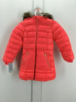 CAT & JACK brand - Girls Winter Hooded Puffer Coat Jacket -