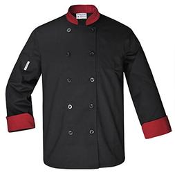 XINFU Chef's Uniform Long Sleeve Double-Breasted Hotel Resta