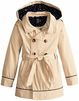 Nautica Childrens Apparel Big Girls Belted Trench Coat- Pick