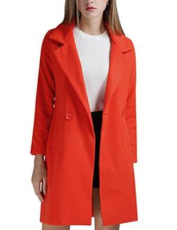 Tanming Women's Classic Style Wool Blend Coat Outerwear