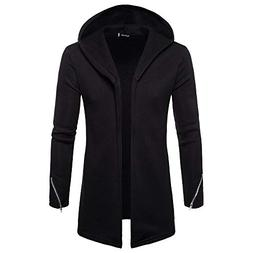Forthery Clearance Men's Trench Coat with Hood Winter Long Z