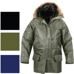 Cold Weather N-3B Military Snorkel Parka Jacket Long Insulat