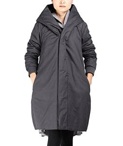 Mordenmiss Women's Cotton Coat Winter Trenchcoat Outerwear W