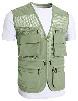 H2H Mens Active Work Utility Hunting Travels Sports Vest of