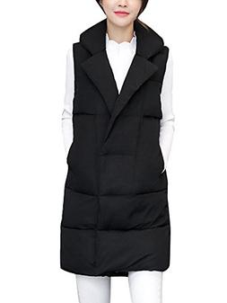 Women's Cotton Padded Lapel Collar Thickened Outwear Coat Lo