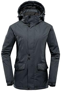 Wantdo Women's Detachable Hood Waterproof Outdoor Fleece Par