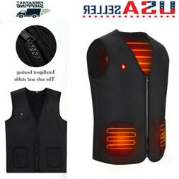 Electric USB Winter Heated Warm Vest Men Women Heating Coat