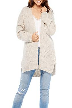Inorin Womens Fall Winter Long Sleeve Open Front Chunky Knit