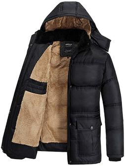 fashciaga men s hooded faux fur lined