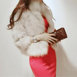Fashion Women Faux Fur Coat Jacket Winter Warm Outwear Overc
