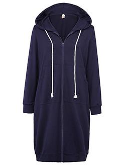 GRACE KARIN Fashion Zip up Pocket Hoodies Sweatshirt Coat Na