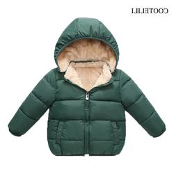 COOTELILI Fleece <font><b>Winter</b></font> Parkas Kids Jack
