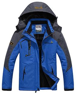 HENGJIA Men's Fleece Outerwear Jackets Outdoor Waterproof Co