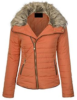 KOGMO Womens Fully Lined Lightweight Zip Up Padding Jacket W