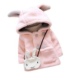Baby Girls Fur Winter Hooded Coat Cloak Jacket Thick Warm Cl