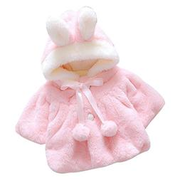 Franterd Baby Girl Fur Winter Warm Coat Cloak Jacket Thick W