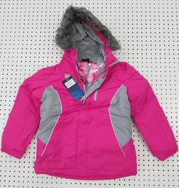 Girl's R-Way 3 in 1 Winter Coat / Jacket, Pink, Size: XL