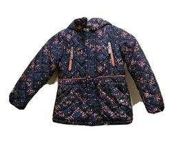 Girls Gerry Brand New Winter Coat With Hood Blue and Pink Si