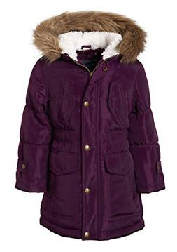 Sportoli Girls Fashion Winter Puffer Jacket Coat with Sherpa