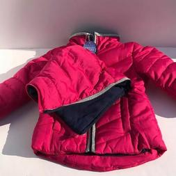 Nautica Girls Puffer Winter Jacket 2T Coat Quilted Pink Silv