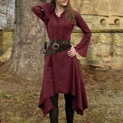 Gothic Punk Cosplay Coat Womens Winter Jackers Vintage Dress