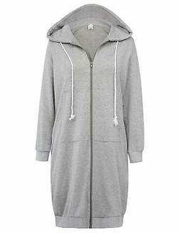 GRACE KARIN Women's Casual Pockets Zip up Hoodies Tunic Swea