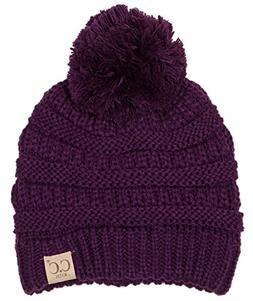 H-6847-40 Girls Winter Hat Warm Knit Slouchy Toddler Kids Po