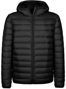hooded packable light down jacket