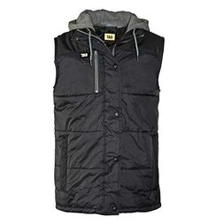 Caterpillar Hooded Work Vest, Black, 2X-Large