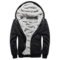 hoodies men hooded casual wool winter thickened
