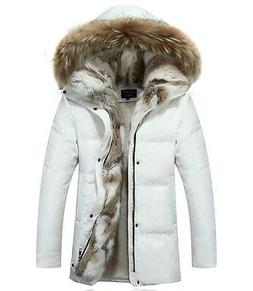 HOT Women's Fleece Jacket Fur Winter Fur Hooded Duck Down Co