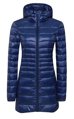ilishop Women's Winter Outwear Light Coat Packable Down Jack