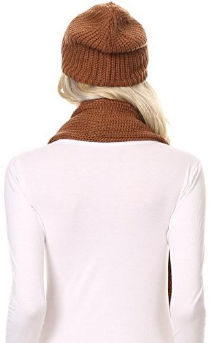 Sakkas Cool Long Soft Lined Scarf Beanie -