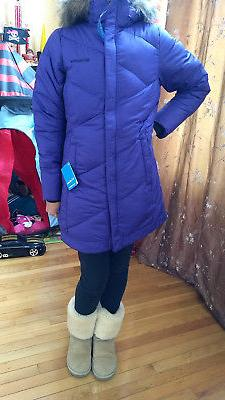 $175 New Columbia Women Winter Down Hooded Jacket Coat S M L
