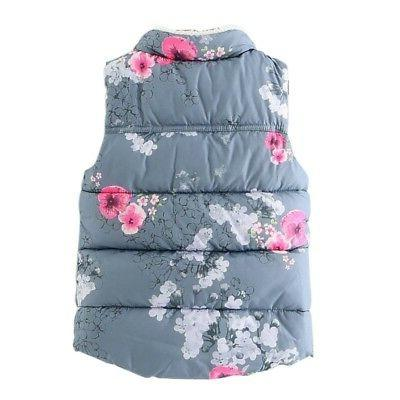 2-7Y Kids Girls Warm Outerwear Floral Tops