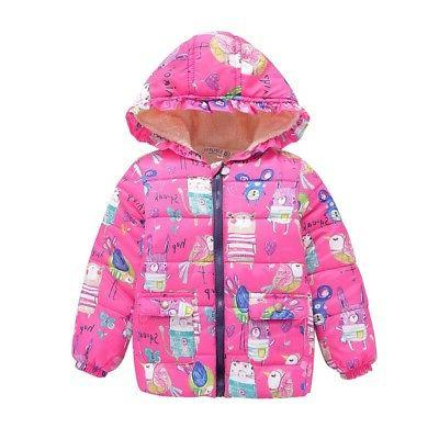 2-7Y Toddler Boys Hooded Floral Coat Jackets Outwear