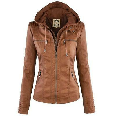 2018 winter faux leather jacket women basic