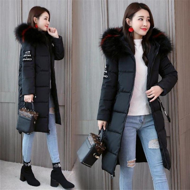 2019 <font><b>Winter</b></font> Thick Hooded Long Fur Jacket Warm CM941