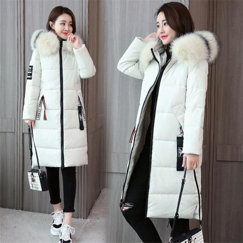 2019 <font><b>Size</b></font> <font><b>Winter</b></font> Thick Hooded Fur Cotton Jacket Solid Warm Outwear CM941