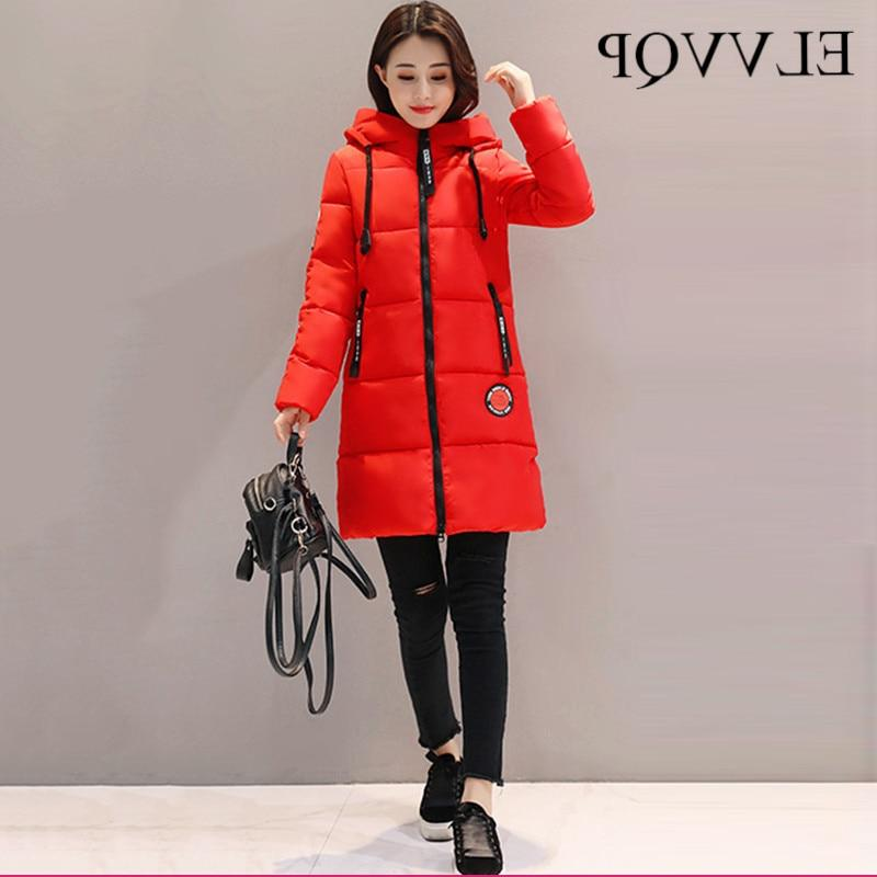 2019 <font><b>Winter</b></font> Plus Size Hooded <font><b>Jackets</b></font> Female Long