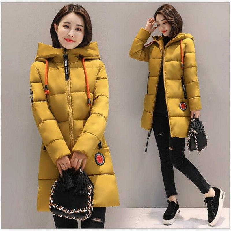 2019 Thick Long Hooded Female Outwear Warm Down Padded Snow Hot <font><b>Sale</b></font>
