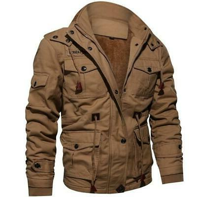 Winter Fleece Jackets Hooded Thermal Thick Oute