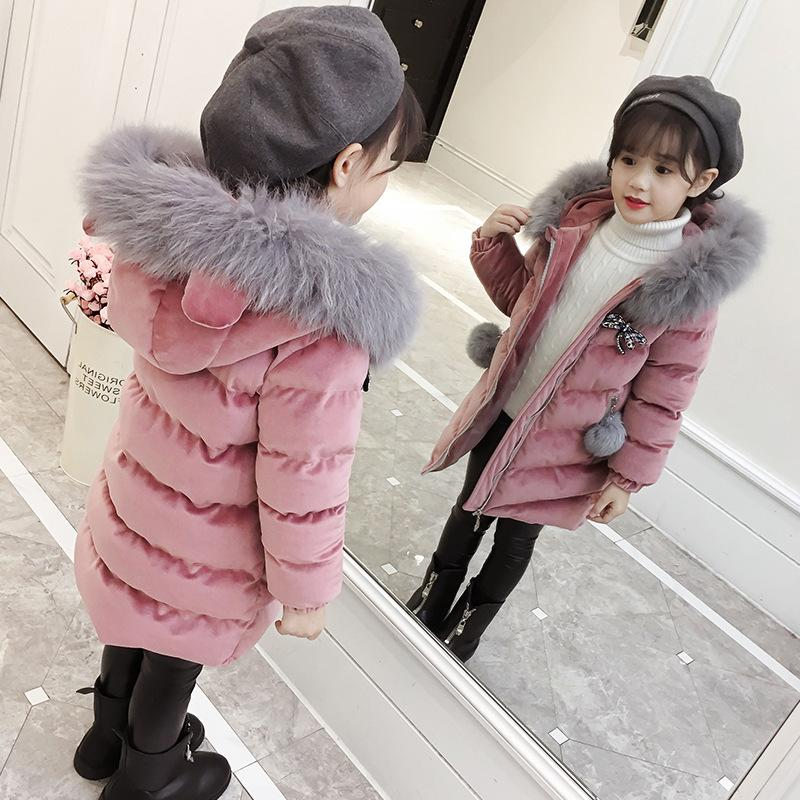 2019 New Children's <font><b>Winter</b></font> Thicken <font><b>Winter</b></font> <font><b>Coat</b></font> Hooded Velour <font><b>Winter</b></font> Jackets