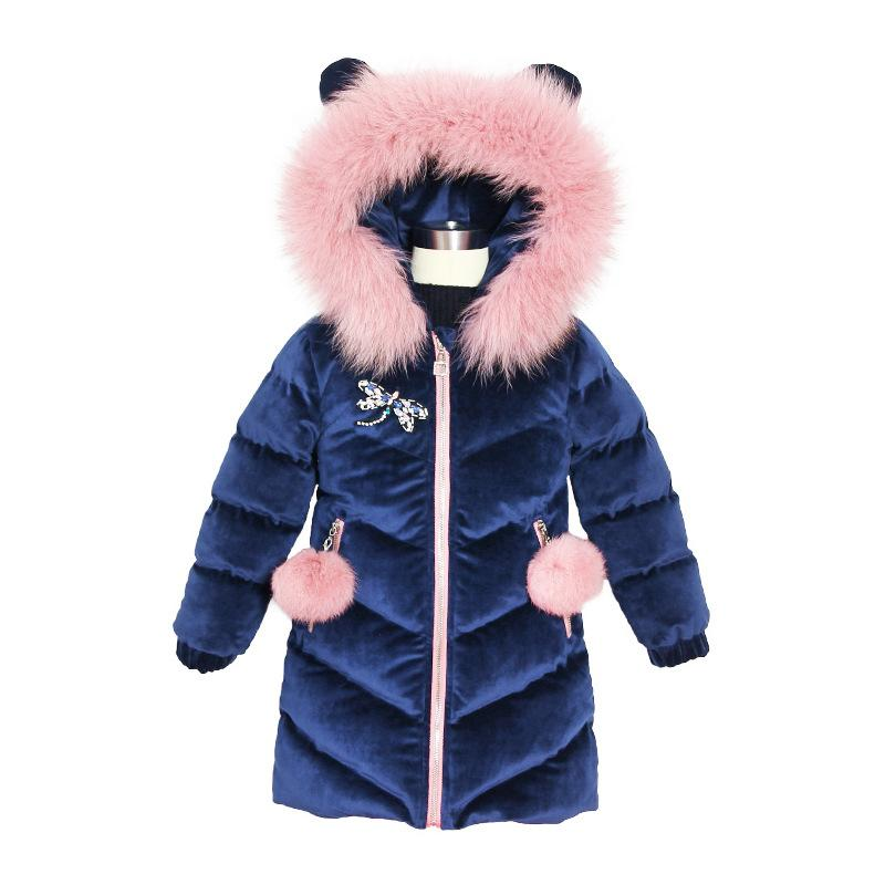 2019 New <font><b>Winter</b></font> For Thicken <font><b>Girls</b></font> <font><b>Winter</b></font> <font><b>Coat</b></font> Hooded Velour Jackets Outwear