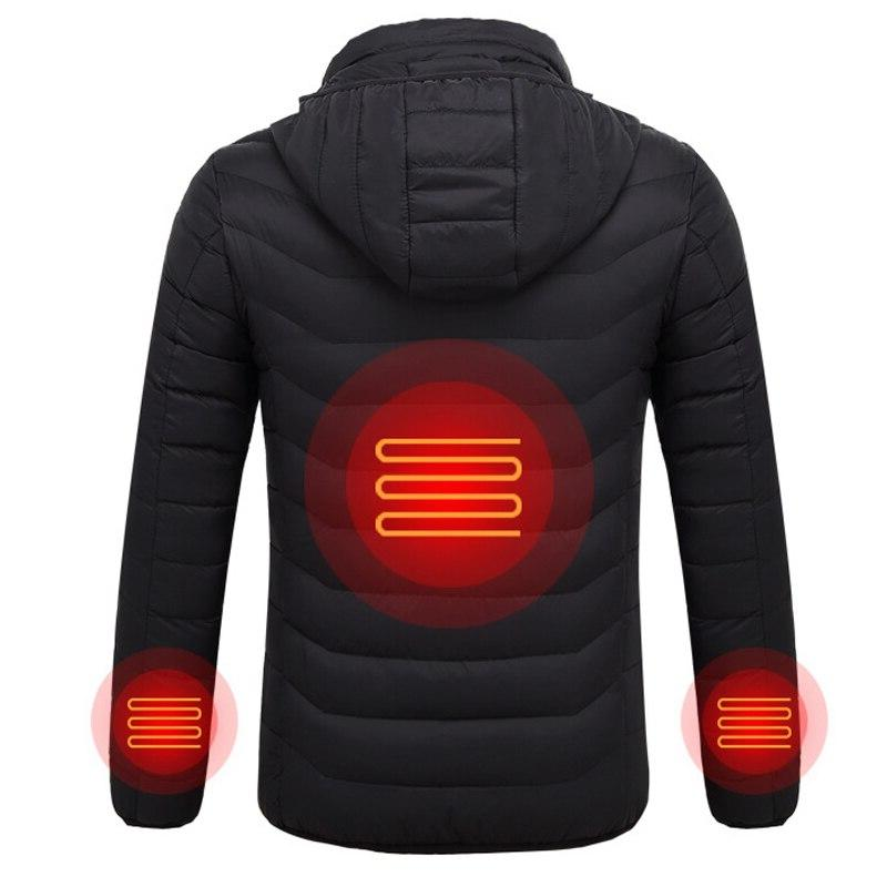 2019 NEW Jackets Electric Battery Heating Hooded <font><b>Winter</b></font>