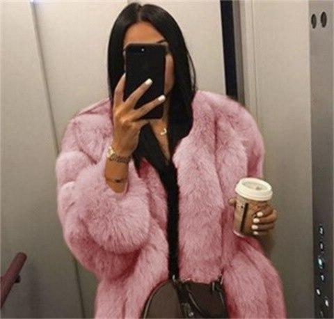 2019 New Pink 5xl Fashion Casual Solid Hooded Plush Women Outwear Parka