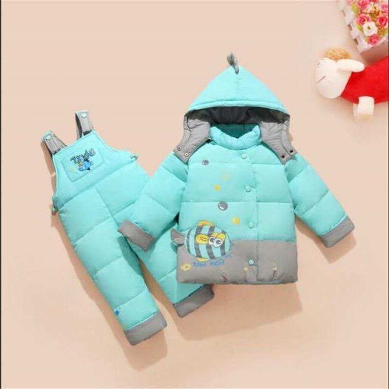 2T <font><b>3T</b></font> 4T <font><b>Winter</b></font> Duck Down Two-piece jacket Boy Clothing Hoodies Outerwear Jacket